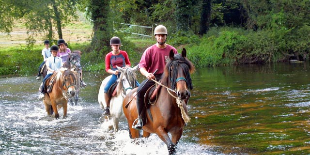 horse riding in Brittany, France - attractions for camping trips