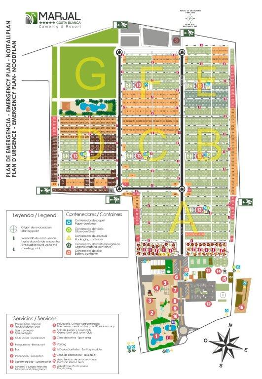 Marjal Costa Blanca Site Map Pitch Locations